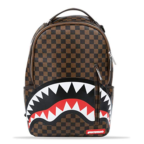 (Sprayground Sleek Shark In Paris 15 Inch Brown Backpack)