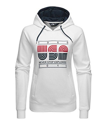 The North Face French Terry USA Pullover Hoodie Women's TNF White M