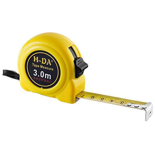 H Da Tape Measure Tl 0413M 120Inches 10Ft  300Cm 3M  Retractable Tape Ruler Metric And Inches Measuring Tape  With Wrist Strap For Construction  Home  Carpentry Measurement