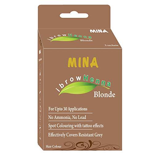 Mina Eyebrow Henna Blonde Regular Pack & Tinting Kit for Brow Color