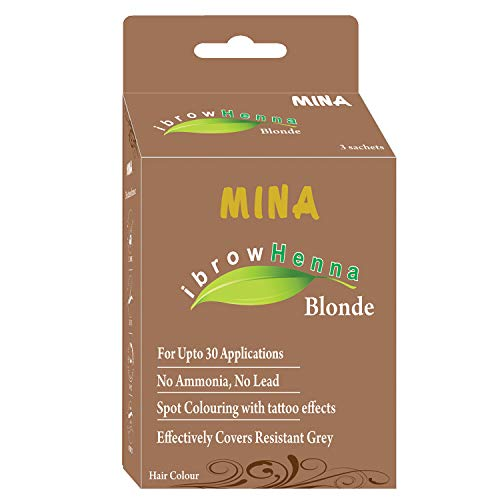 - Mina Eyebrow Henna Blonde Regular Pack & Tinting Kit for Brow Color
