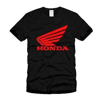 8303a2853 Honda Logo T-Shirt - Mens Black T-Shirt (Large): Amazon.co.uk: Clothing
