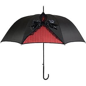 Kung Fu Smith Black Lace Parasol Umbrella for Women, Vintage Victorian Windproof Umbrella, British London Rain Umbrella…
