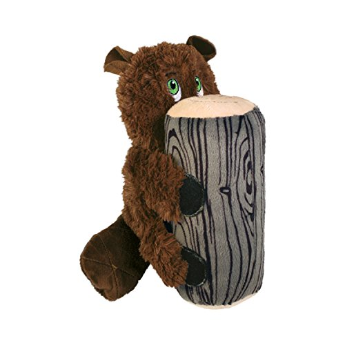 KONG Huggz Hiderz Beaver Large Dog Toy
