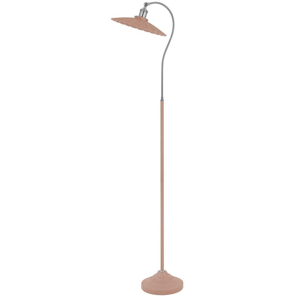 At Home Comforts Vintage Inspired Gooseneck Metal Floor Lamp (PinkSilver)