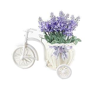 YHCWJZP 1Bouquet Rattan Float Artificial Lavender Flower Bonsai Wedding Party Decor - Light Blue 60