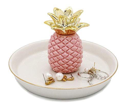 Jojuno Ceramic Ring Jewelry Holder Decor Dish Organizer