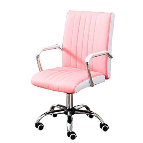 Bar chair Computer Chair Home Office Chair Modern Simple Conference Chair Staff Swivel Chair Bow Chair Mahjong Lift Chair (Color : Pink) (Swivel Conference)