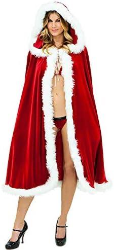 amatorial Capa de Navidad para Mujer Papá Noel Capa con Capucha ...