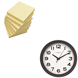 KITMIL625485UNV35668 - Value Kit - Howard Miller Kenwick Wall Clock (MIL625485) and Universal Standard Self-Stick Notes (UNV35668)