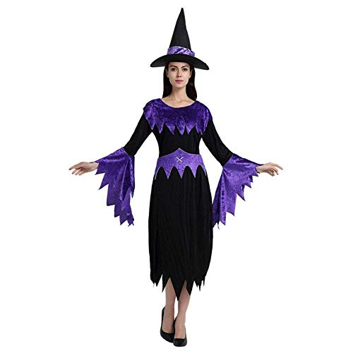 Masked Magician Halloween Costume (Fashion-Cos1 Women Wizards Costume Female Witch Costume Sexy Fancy Magician Performances Dress Halloween Party)