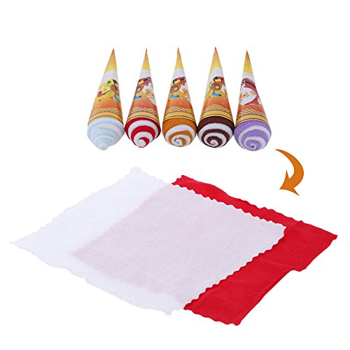 (Christmas Ice Cream Shaped Towel Soft and Cute Two-tone Originality Towel Great Gift for Return a Salute at Wedding)