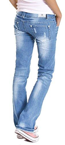 Bestyledberlin Jean pour basse femmes taille j28x jean Bleu wH4Faq8w