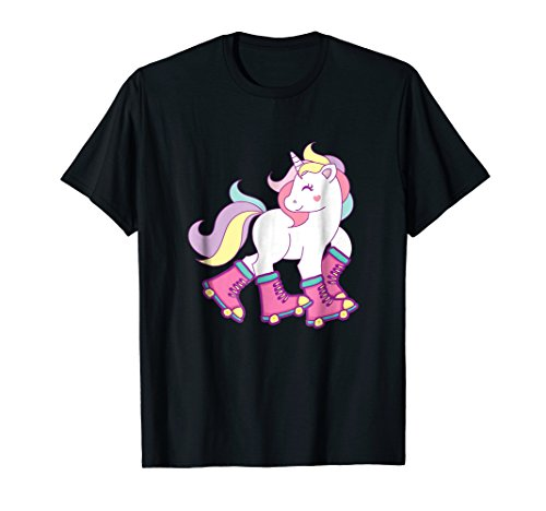 Roller Girl Outfit - Skating Unicorn Magic Horns Adorable Creatures Shirt