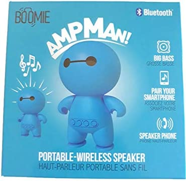 Portable-Wireless Speaker Play Music from SD Card Bluetooth Boomie AMPMan 2 Hour Play time Speaker Phone Blue Man Big bass Pair with Smartphone