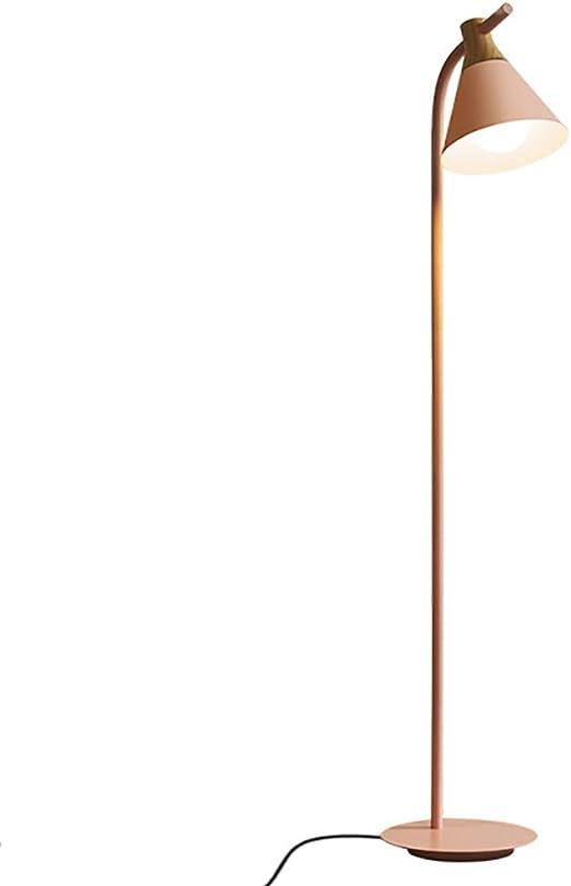 LMYMX Lampara Salon nordica LED, Lampara Pie Habitacion NiñA, Lampara Pie Salon Pantalla, Base de Metal no Regulable, para Lámpara de Pie para Salón,Rosado: Amazon.es: Hogar