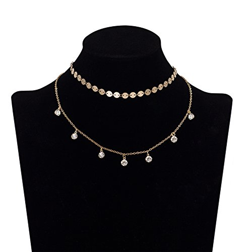 Geerier Stunning Layered Necklace Synthetic