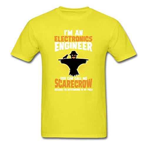 Electronics Engineer Halloween Costume 2017 Novelty Graphic Man Funny Fashion T-Shirt Yellow Large