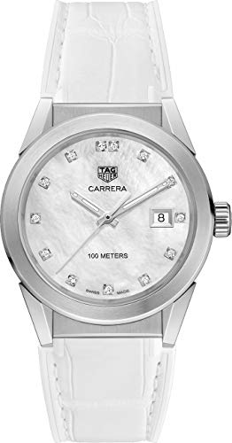 Tag Heuer Carrera Diamond Mother of Pearl Dial Ladies Watch WBG1312.FC6412