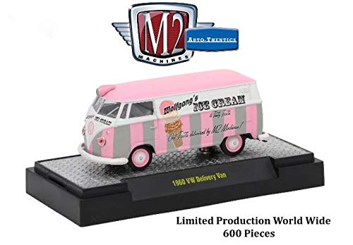 M2 Machines 1960 VW Delivery Van (Wolfgang's Ice Cream) - 2017 New York Toy Fair Exclusive Auto-Thentics 1:64 Scale Castline Die-Cast Vehicle & Custom Display (1 of only 600 -