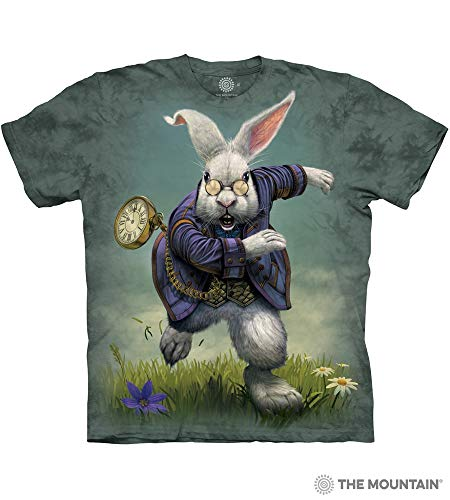 The Mountain White Rabbit Adult T-Shirt, Green, Large -