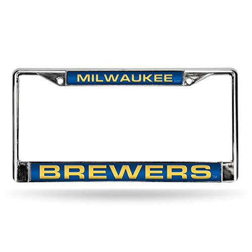 Rico Milwaukee Brewers MLB Chrome Metal Laser Cut License Plate Frame