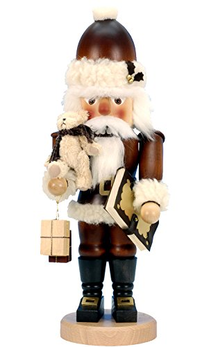 32-965 - Christian Ulbricht Mini Nutcracker - Santa with Teddy - 18''''H x 6.75''''W x 5.5''''D by Alexander Taron Importer