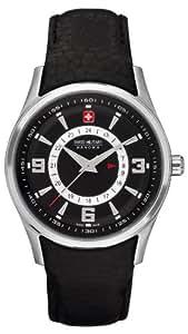 Swiss Military Navalus 6-6155.04.007 - Reloj de mujer de cuarzo, correa de piel color negro