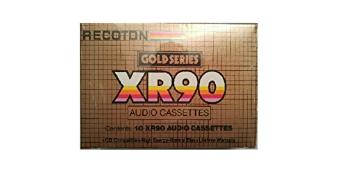 10 Pack Recoton Gold Series XR90 90 Minute Normal Bias Casse