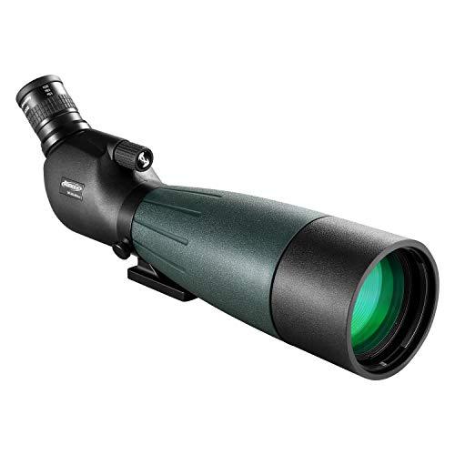 AOMEKIE Spotting Scope 20-60X80 with Tripod Phone Adapter Case for Target Sighting Hunting Bird Watching Waterproof Fogproof FMC BAK4 45°Angled Monocular Telescope