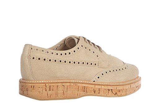 Lacets De Daim Classique Des Femmes Des Églises Des Chaussures Formelles Lacées Derby Soft Castgold Être