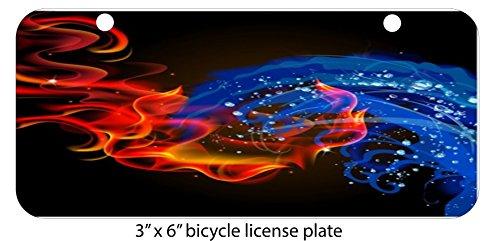 Sticker Skin Print Fire Water Vape Bright Colored Smoke Swirls Mini