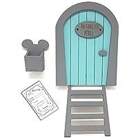 Puerta Ratoncito Pérez azul,con escalera,buzón y certificado