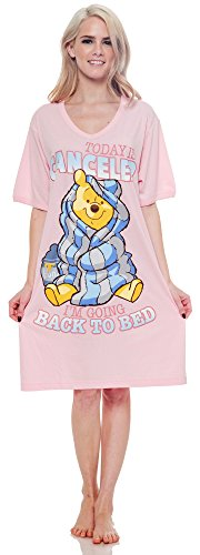 Disney Winnie the Pooh Sleep Shirt Back to Bed One Size Fits Most (Pink)