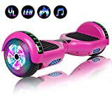 Felimoda 6.5' Hoverboard for Kids and Adult Two-Wheel Self-Balancing Scooter- UL2272 Certificated, withColorful RGB Flash LED Lights(Purple)