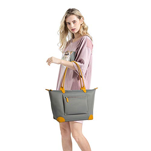 Purses-and-handbags-Tote-Shoulder-Bag-for-Women-Large-Travel-Work-Oxford-Nylon-Leather-Top-Handle-Bags