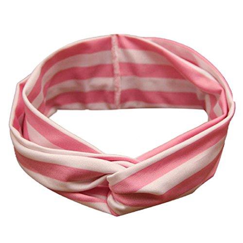 UPC 635682393173, FEITONG(TM) 2015 New Child Girls Elastic Stripe Cross Cute Beautiful Headband Baby Hair Accessories (Pink)