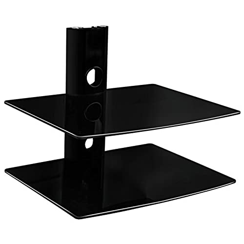Mount It! MI 802 Floating Wall Mounted Shelf Bracket Stand For AV Receiver,  Component, Cable Box, Playstation4, Xbox1, VCR Player, Blue Ray DVD Player,  ...