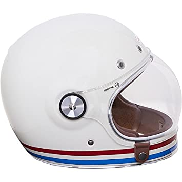 Bell Bell Powersports 600003-081 - Casco de motocicleta, color Blanco (Stripes Pearl