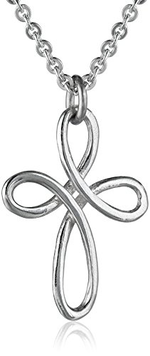 """Bob Siemon Sterling Silver Twisted Wire Cross Pendant Necklace, 20"""""""