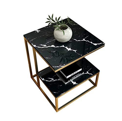 Chennong 北欧のミニマリストのソファコーナーモダンなスクエアサイドリビングルーム小さなコーヒーテーブルの後のいくつかのベッドサイドテーブル B07QLTM53X