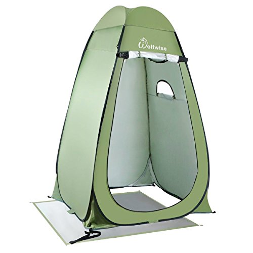 (WolfWise Pop-up Shower Tent (Green)