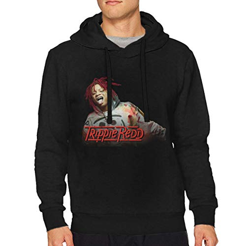 Man's Trippie Redd Classic Music Band Long Sleeves Hoodie Sweatshirt Black S Gift