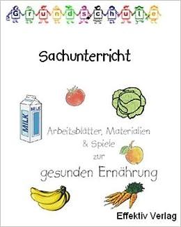 Sachunterricht Gesunde Ernährung Spiele Arbeitsblätter Und
