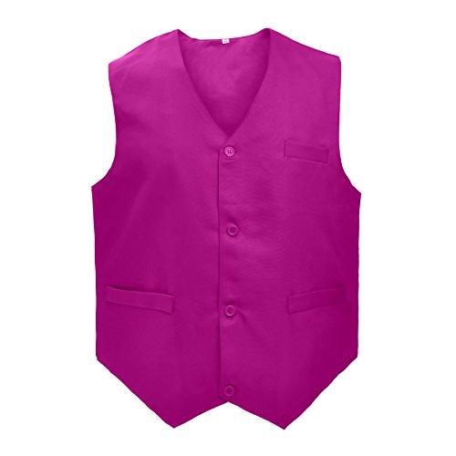 TopTie Waiter Uniform Unisex Vest for Supermarket Clerk & Volunteer, Rosered