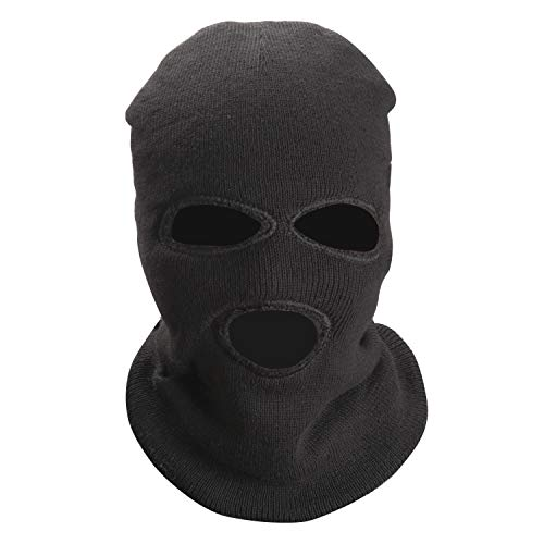(TOBWOLF 3Pcs 3-Hole Ski Mask, Knitted Full Face Cover with Warm Fleece Lining, Thermal Winter Balaclava for Outdoor Sports)