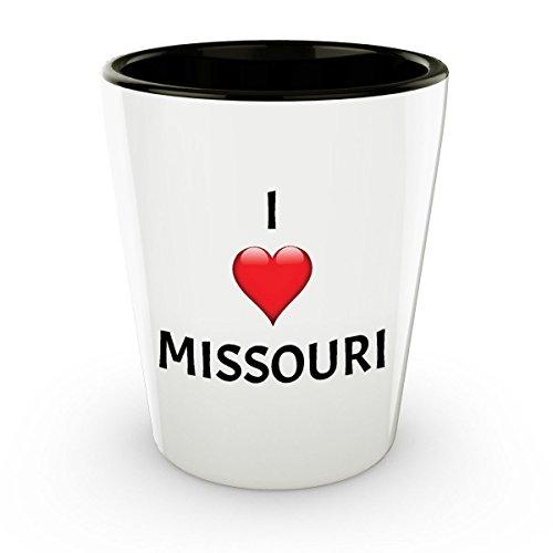 Missouri Shot Glass - I Heart Missouri - 1.5oz Ceramic Shot Glass Gift