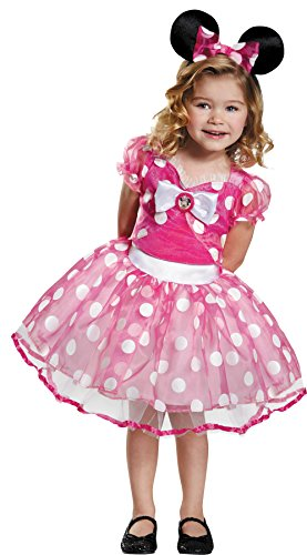 Scary Minnie Mouse Costume (UHC Disney Girls Minnie Mouse Theme Outfit Toddler Child Halloween Fancy Costume, Child S (4-6X))