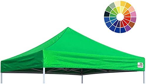 Eurmax New Pop Up Canopy Replacement Canopy Tent Top Cover, Instant Ez Canopy Top Cover ONLY 8×8, Kelly Green
