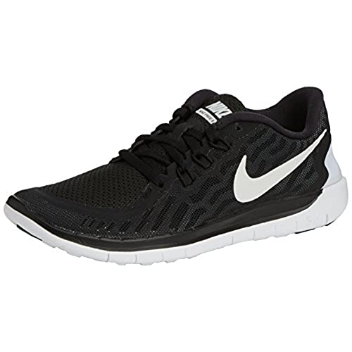 NIKE Boy\u0027s Free 5.0 Running Shoe (GS) Black/Grey/White Size 6 M US